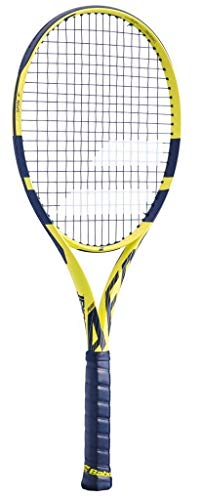 Babolat 2019 Pure Aero Tennis Racquet, Quality String (4 3/8) (Best Tennis Racquet For Spin 2019)