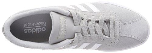 Fitnessschuhe Courtset ftwbla 000 Adidas plamet Grau griuno Damen ZEqqnB5w