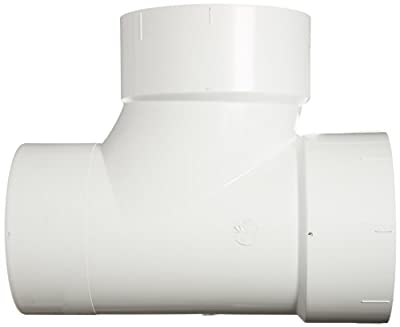 Spears PVC DWV Pipe Fitting, Sanitary Tee, Spigot x Hub x Hub