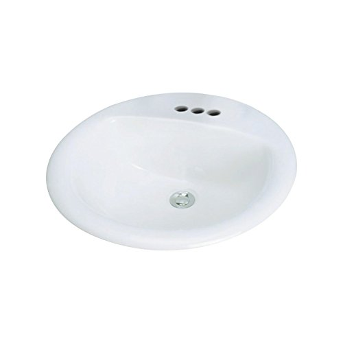 Transolid TL-1564-01 Self-rimming Drop-in 4in Centerset Preston Lavatory in White,