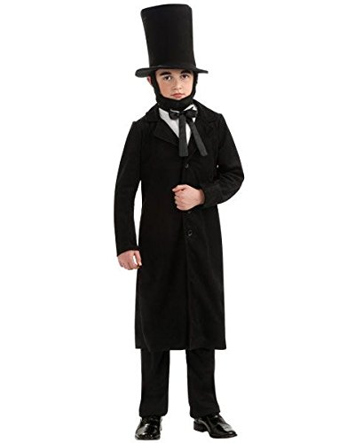 Lincoln Halloween Lights (Rubie's Child's Deluxe Abraham Lincoln Costume,)