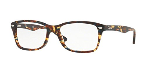 Ray-Ban Women's RX5228 Eyeglasses Spotted Blu/Brown/Yellow - Womens Rx5228 Ban Ray