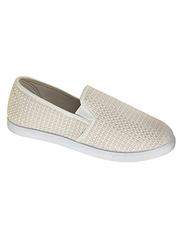 Carol Wright Gifts Casual Slip-On, Ivory, Size 9 (Wide)