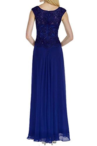 La_mia Braut Royal Blau Breit-traeger Pailletten Abendkleider Partykleider Abschlussballkleider Lang A-linie Rock