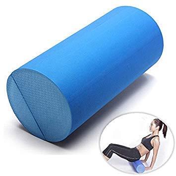 BloomGrün Co. 30x15cm Eva Yoga Pilates Fitness Massage Foam Roller Grid Gym One Piece