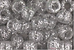 Silver Sparkle Glitter Crow Beads Pony Beads Made in USA 6x9mm