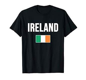 Amazon.com: Bandera de irlandés de Irlanda playera Tee ...