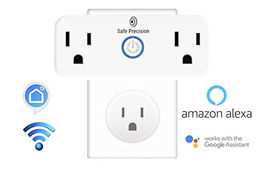 Wifi Smart Plug Home Accessories - Socket Compatible With Amazon Alexa and Google Home Assistant With Scheduling Timer, No Hub Required (Accessory Wifi)