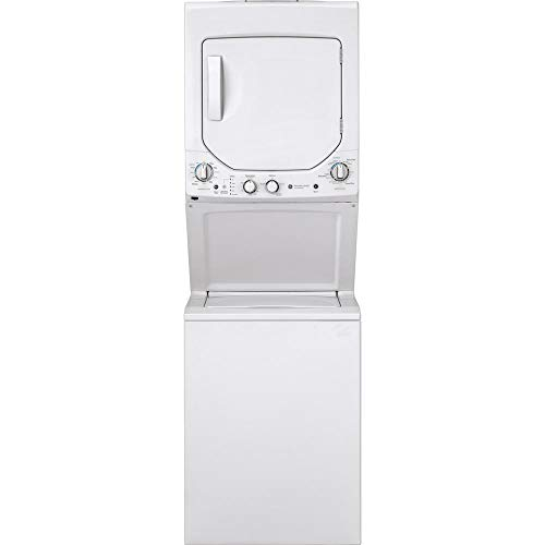 GE GUD24ESSMWW Unitized Spacemaker 2.3 Washer with Stainless Steel Basket and 4.4 Cu. Ft. Capacity Electric Dryer, White