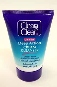 Clean & Clear Deep Action Cream Cleanser, 1 Oz
