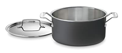 Cuisinart MCU44-24N MultiClad Unlimited Dishwasher Safe 6-Quart Saucepot with Cover