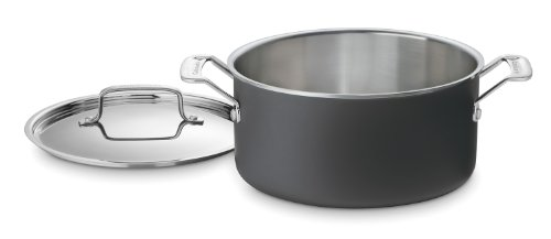 Unlimited Cookware Multiclad - Cuisinart MCU44-24N MultiClad Unlimited Dishwasher Safe 6-Quart Saucepot with Cover