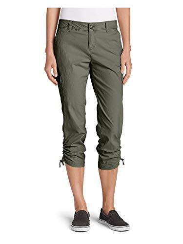 Eddie Bauer Women's Adventurer Stretch Ripstop Crop Cargo Pants - Slightly Curv,16 Regular,Sprig (Green)