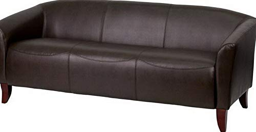 Campton Imperial Series Brown Leathersoft Sofa - Reception Guest Lounge Furniture   Model LNGCHR - 332
