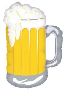 Single Source Party Supplies – 32″ Beer Frosty Mug Mylar Foil Balloon, Health Care Stuffs