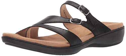 Trotters Women's Vanna Sandal, Black, 8.0 W US