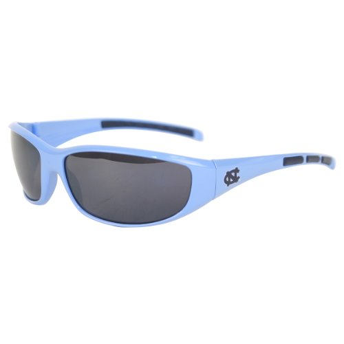 NCAA 3 Dot School Colors and Logo Sport Sunglasses - North Carolina - School Sunglasses