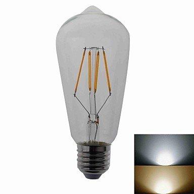 RTS E27 4 W COB LED 500LM luz blanca 2700 K-6500 K LED bombilla de bajo consumo (esférica: Amazon.es: Iluminación