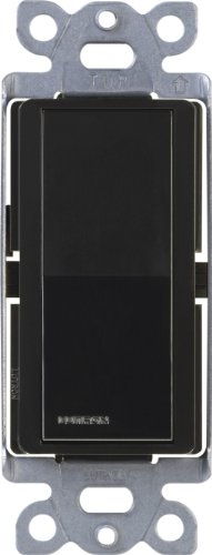 - Lutron Claro On/Off Switch, 15-Amp, Single-Pole, CA-1PS-BL, Black