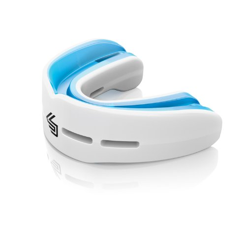 (Shock Doctor Nano Double Mouth Guard, WHITE, Youth)