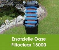 Lampe und Filterstarter Wartungspaket f/ür Teichfilter Schwammset Oase Filtoclear 15000 inkl