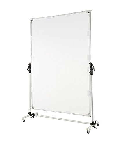 Falcon Eyes Pro Studio Solutions 150cm x 200cm (59in x 78.7in) Sun Scrim - Collapsible Frame Diffusion & Silver/Black Reflector Kit with Pulley can be moved Handle by OPENCLOUD (Image #5)