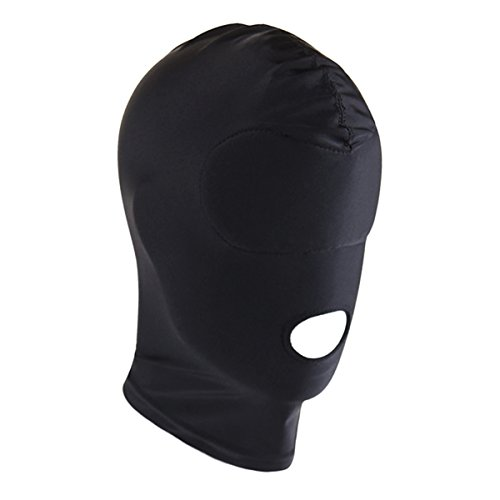 hood with eye and mouth holes - 1