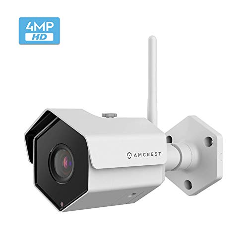 Amcrest 4MP WiFi Wireless Outdoor Camera 2688 x 1520p Bullet Security IP Outdoor WiFi Camera, IP67 Waterproof, 118