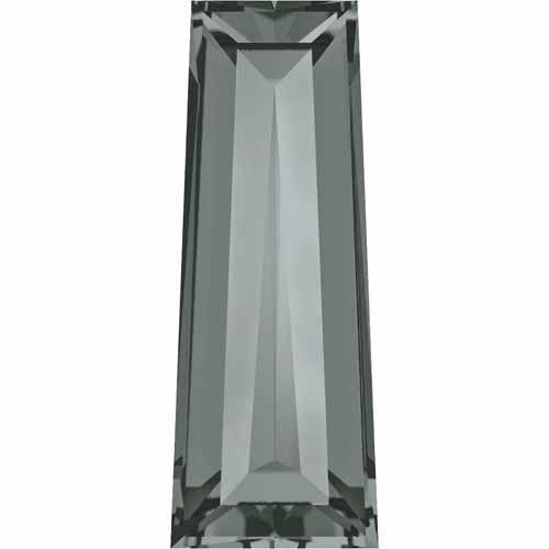 4503 Swarovski Fancy Stones Tapered Baguette | Black Diamond | 4x2mm - Pack of 6 | Small & Wholesale ()