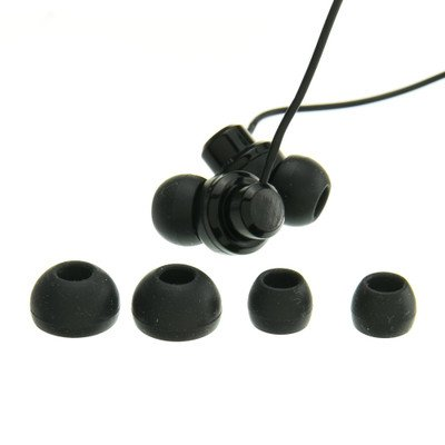 Black JVC Riptidz Inner-Ear Earbuds Headphones ( 50 PACK ) BY NETCNA