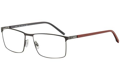 Morel Eyeglasses Lightec 8244L 8244/L GR022 Dark Grey/Red Optical Frame ()