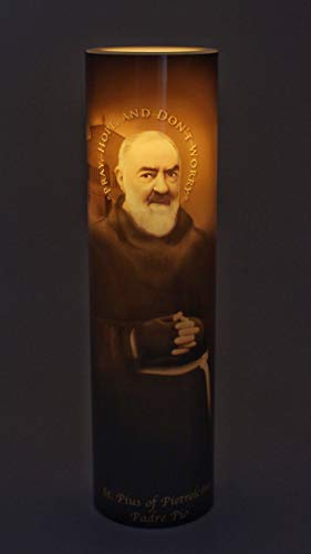 - The Saints Gift Collection New LED Flameless Devotion Candle Padre Pio