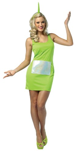 Rasta Imposta Teletubbies Dipsy Tank Dress, Green, Adult 4-10 - Teletubby Fancy Dress