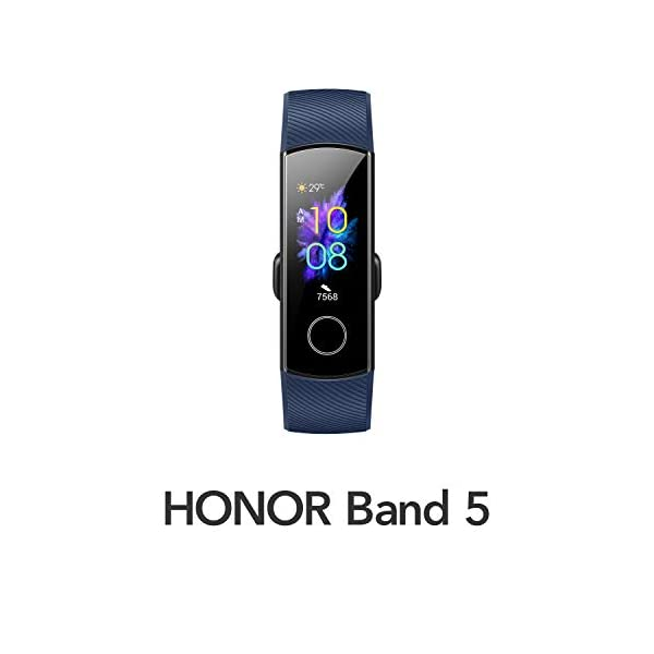 HONOR Band 5 (MidnightNavy)- Waterproof Full Color AMOLED Touchscreen, SpO2 (Blood Oxygen), Music Control, Watch Faces Store, up to 14 Day Battery Life 2