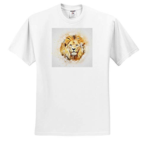 Lens Art by Florene - Watercolor Art - Image of Portrait Painting of Majestic Lion - T-Shirts - Toddler T-Shirt (2T) (ts_300361_15)