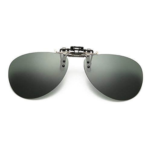 LOMOL Fashion Polarized Myopia Clip-on Flip up UV Protection Fishing Driving - 2014 Fly Fishing Best Sunglasses