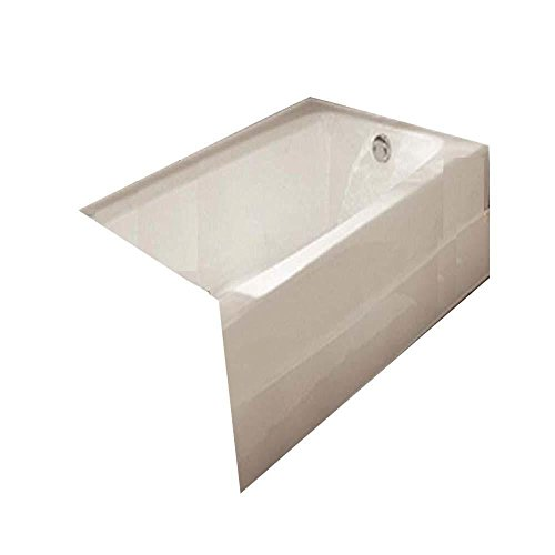 (American Standard 2696.202.020 Spectra 5-1/2 ft. Cast-Iron Bathtub with Left-Hand Drain in White)