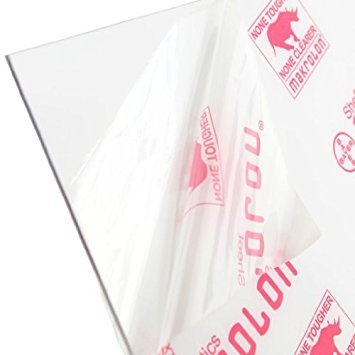 6mm 24x24 Polycarbonate Sheet 1//4 Nominal