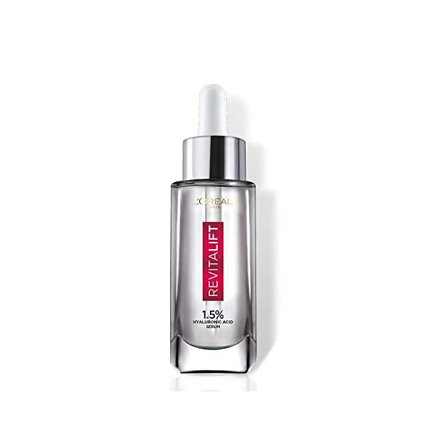 L'Oréal Paris Revitalift 1.5% HYALURONIC ACID SERUM 15 ml 2021 June Our highest concentration* of hyaluronic acid - Try our intensely hydrating 1.5% Hyaluronic Acid Serum for a radiant, re-plumped, youthful and smooth skin Instant visible results, skin gets better day after day - Skin looks hydrated, smooth and youthful and skin radiance improves by 42%** Lightweight & non-sticky texture – The serum absorbs quickly into the skin with no leftover residue