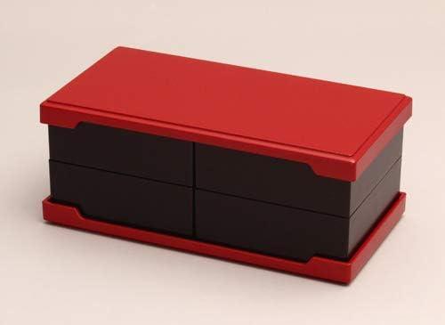 酒井産業 うたげ懐石重 食卓 食事 イベント 行事 正月 お花見 朱 黒 シンプル 小箱重 おせち