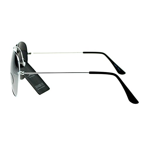 fefb610a86 well-wreapped Classic Mens Reflective Silver Mirror Lens Motorcycle Cop  Aviator Sunglasses