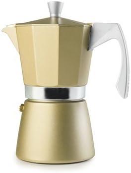 Ibili 623903 - Cafetera expresso Evva Golden 3, Aluminio, Beige ...