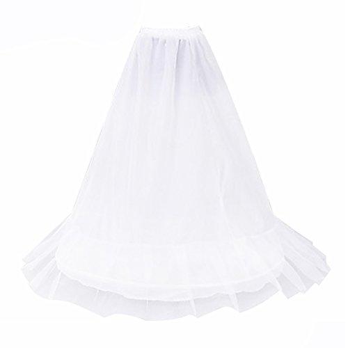 MagiDeal Donna Sposa 1 Hoop A-Line Crinolina Sottoveste Sottogonna Bianco