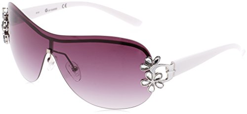 Guess GGU1111 SI-35 (White - Silver with Plum Gradient - Guess Frame Sunglasses White