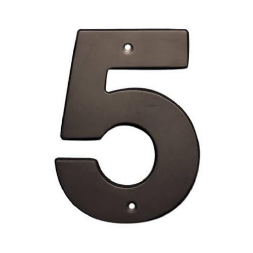 "Brainerd #BH3085D-OB-U 5"" #5 Bronze House Number"