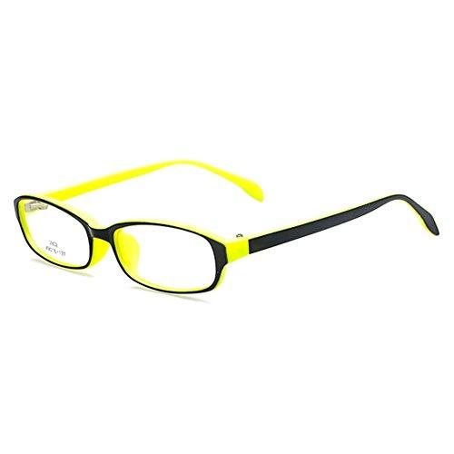 Filles Garçons Lunettes - Verres à lentilles transparentes Cadre Geek / Nerd Eyewear Lunettes avec boîtier en forme de voiture - hibote #112208 Jaune