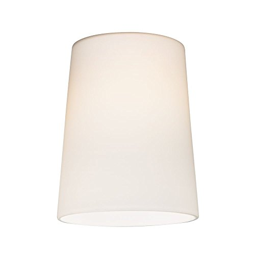 Satin White Cone Glass Shade - Lipless with 1-5/8-Inch Fitter Opening