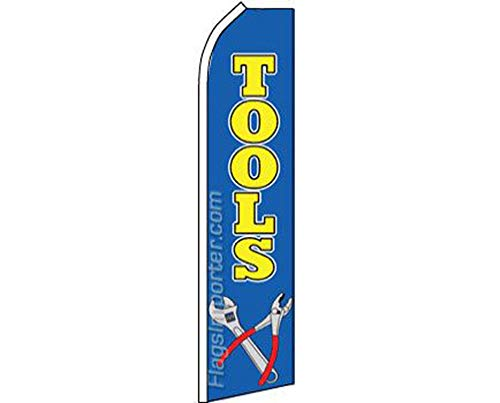 (ALBATROS Tools Blue Yellow Swooper Super Feather Advertising Flag for Home and Parades, Official Party, All Weather Indoors Outdoors)