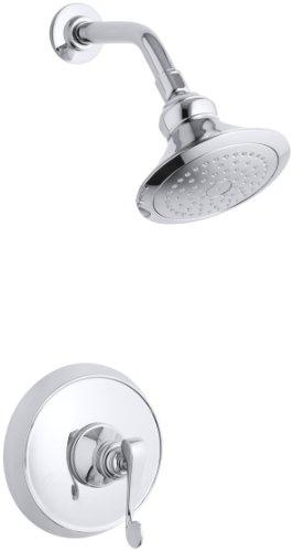 KOHLER K-T16114-4-CP Revival Rite-Temp Pressure-Balancing Shower Faucet Trim, Polished Chrome