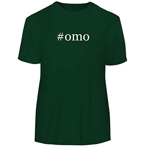 One Legging it Around #OMO - Hashtag Men's Funny Soft Adult Tee T-Shirt, Forest, X-Large